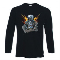 Motor Skull Long Sleeve T-Shirt
