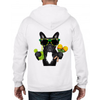 French Bulldog Brazillian Style Full Zip Hoodie
