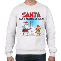 Santa Has A Frozen Ice Hole Funny Christmas Men's Sweater \ Jumper
