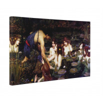 John William Waterhouse Hylas and The Nymphs Box Canvas Print Wall Art - Choice of Sizes