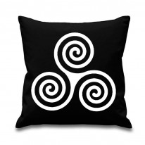 Celtic Spiral Pagan Scatter Cushion
