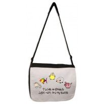 Love Animals But Not On My Plate Vegetarian Laptop Messenger Bag