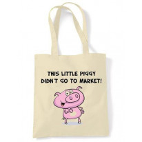 This Little Piggy Didn't Go To Market Vegetarian Shoulder Bag