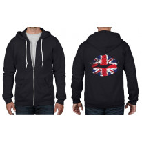 Union Jack Lips Full Zip Hoodie