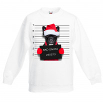 Bad Santa Claus Pug Dog Christmas Kids Jumper \ Sweater