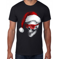 Santa Claus Skull Father Christmas Bah Humbug Men's T-Shirt