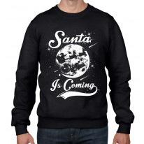 Santa Is Coming Father Christmas Men's Sweater \ Jumper