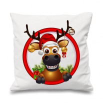 Rudolph The Red Nosed Reindeer and Baubles Cushion