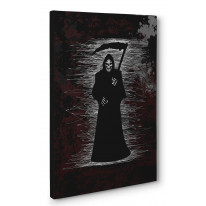 Grim Reaper Scribble Box Canvas Print Wall Art - Choice of Sizes