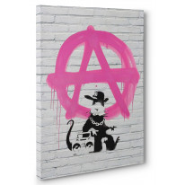 Banksy Anarchy Rat Box Canvas Print Wall Art - Choice of Sizes
