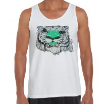 Graffiti Tiger Men's Tank Vest Top