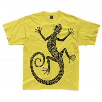 Tribal Lizard Tattoo Large Print Kids Children's T-Shirt