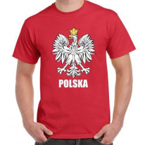 Polish Eagle Polska Flag Mens T-Shirt