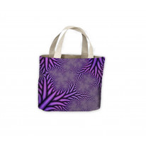 Fractal Spikes Purple Tote Shopping Bag For Life