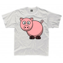 Cartoon Pig Farm Yard Animal Children's Unisex T Shirt