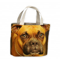 Boxer Dog Face Tote Shopping Bag For Life