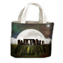 Stonehenge Moon Tote Shopping Bag For Life
