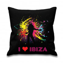 I Love Ibiza Dancer Scatter Cushion