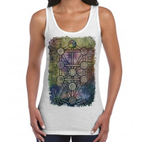 The Tree of Life Kabbalah Large Print Women's Vest Tank Top