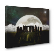 Stonehenge Moon Box Canvas Print Wall Art - Choice of Sizes