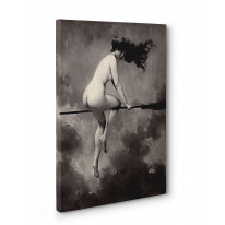 Albert Penot Depart Pour Le Sabbat Box Canvas Print Wall Art - Choice of Sizes