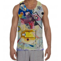 Wassily Kandinksy Red Yellow Blue Composition Men's All Over Graphic Vest Tank Top
