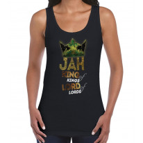 Jah King of Kings Rasta Reggae Women's Tank Vest Top