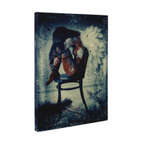 Fallen Angel on Chair Box Canvas Print Wall Art - Choice of Sizes