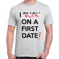 I Ruck On The First Date Men's Rugby T-Shirt