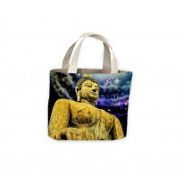 Buddha Under Night Sky Tote Shopping Bag For Life