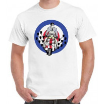 Mod Scooter Mirrors T-Shirt