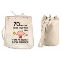 The Years Have Been Kind Men's 70th Birthday Present Duffle Backpack Bag
