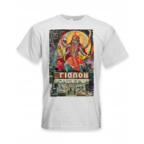 Kali Hindu Goddess Large Print Men's T-Shirt