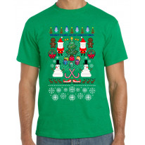 Merry Pixelated Christmas Funny Men's T-Shirt