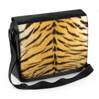 Tiger Skin Pattern Laptop Messenger Bag
