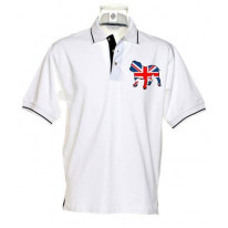 British Bulldog Union Jack Tipped Polo T-Shirt