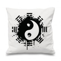 Yin and Yang Grunge Cushion