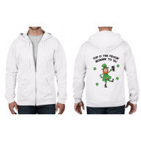 Leprechaun Top O The Mornin St Patricks Day Full Zip Hoodie