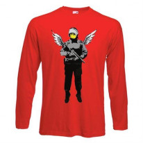 Banksy Winged Copper Long Sleeve T-Shirt