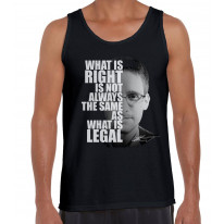 Edward Snowden What Is Right Quote Men's Tank Vest Top