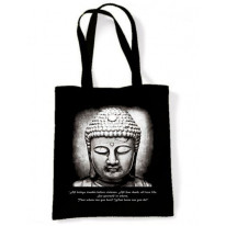 Vegetarian Buddha Quote Shoulder Bag