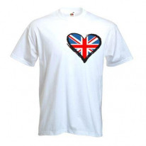 Union Jack Heart Mens T-Shirt