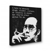 Hunter S Thompson Drugs Quote Box Canvas Print Wall Art - Choice of Sizes