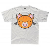 Cartoon Tabby Cat Ginger Kitten Children's Unisex T Shirt