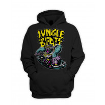 Jungle Beats Junglist DJ Men's Pouch Pocket Hoodie Hooded Sweatshirt