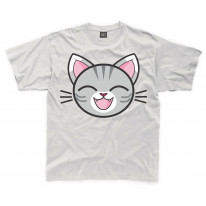 Cartoon Tabby Cat Grey Kitten Children's Unisex T Shirt