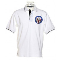 Mod Scooter Mirrors  Men's Contrast Polo T-Shirt