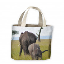 Elephant Family Tote Shopping Bag For Life