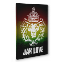 Jah Love Box Canvas Print Wall Art - Choice of Sizes