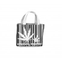 Marijuana Barcode Illegal Tote Shopping Bag For Life